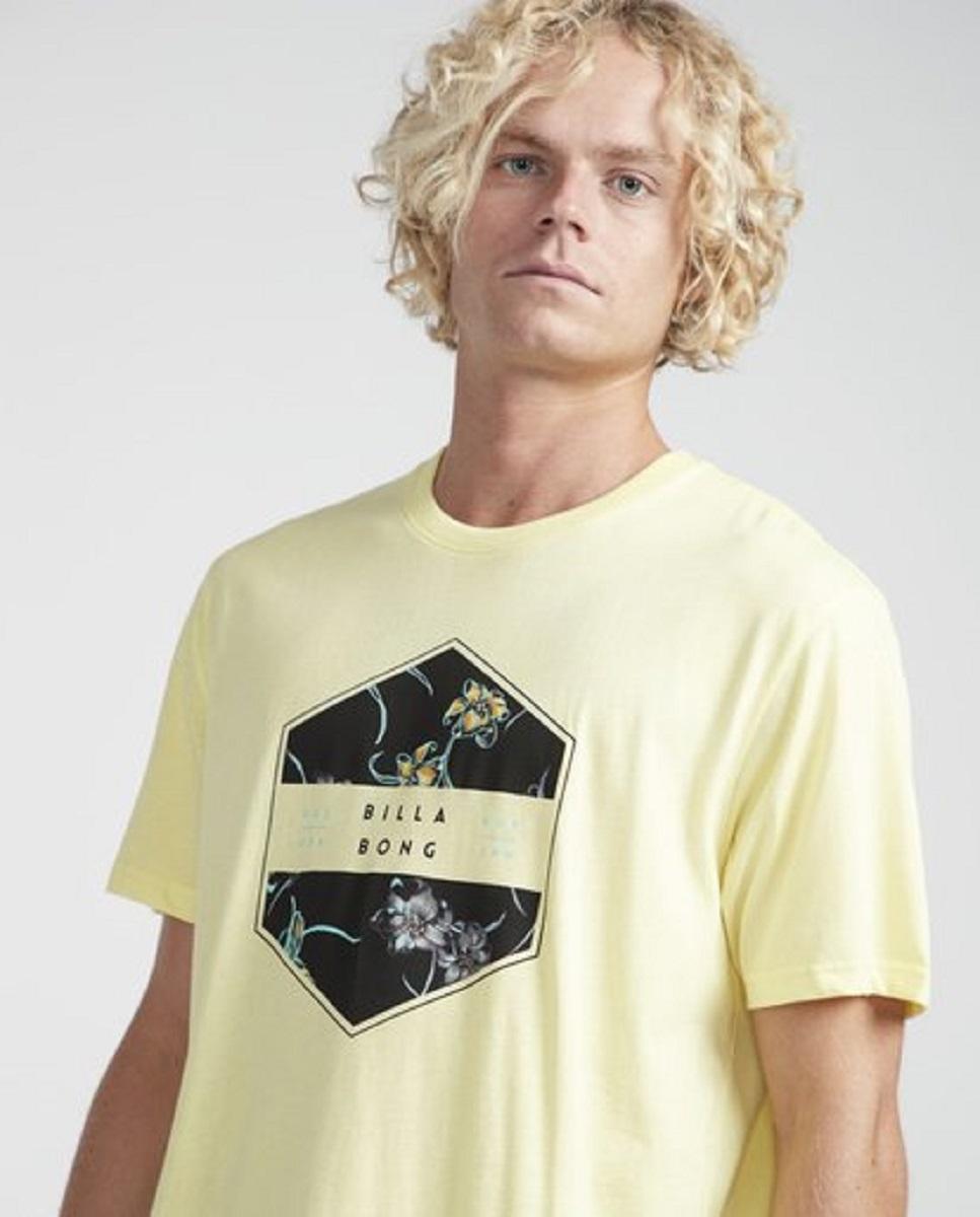 camiseta billabong access amarilla
